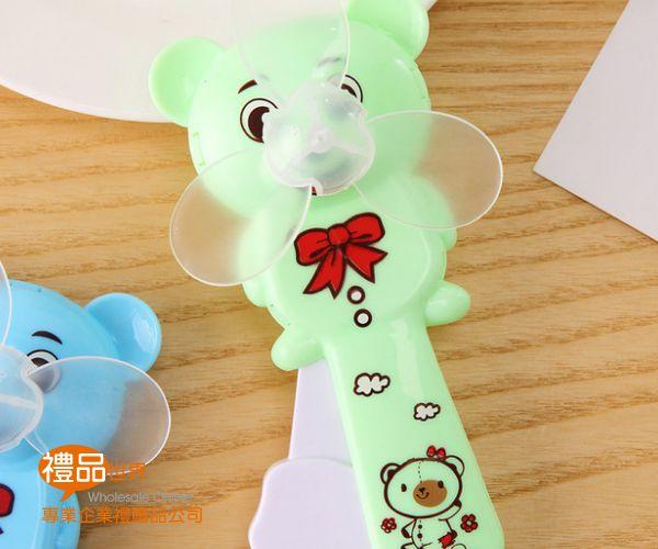 小熊手壓造型風扇