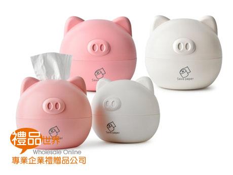 逗趣小豬面紙盒
