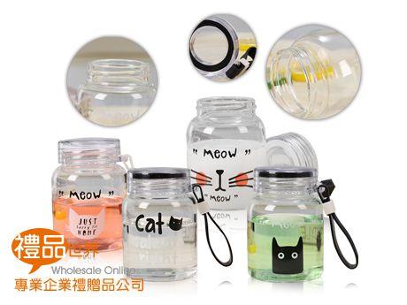 萌貓物語玻璃隨手瓶300ml