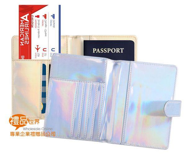 PU皮大理石紋護照包