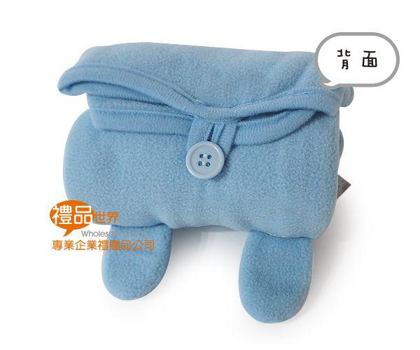 客製化粉漾熊捲捲毯