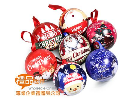 聖誕收納圓型鐵盒