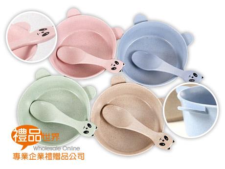 小麥熊貓造型餐具碗