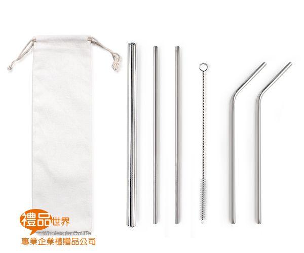 環保不鏽鋼吸管6入組