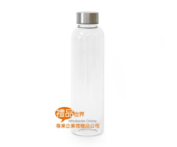 簡約條紋玻璃瓶550ml