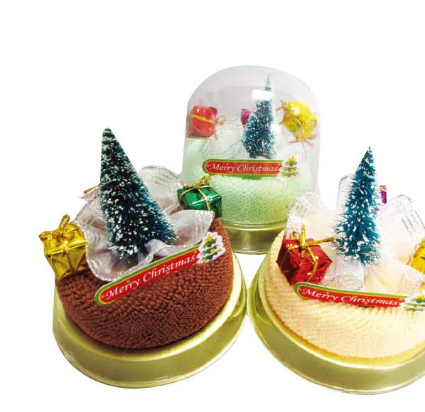 聖誕樹優格蛋糕毛巾