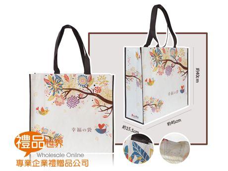 客製化彩色覆膜購物袋40x45x15.5cm