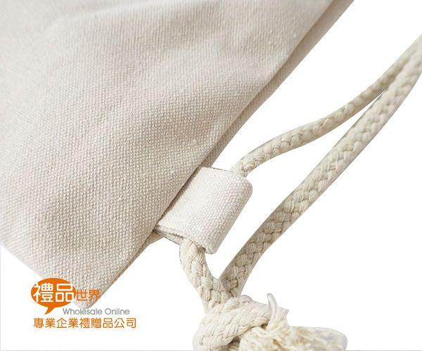 帆布手提束口背包