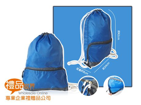 韓版休閒束口袋