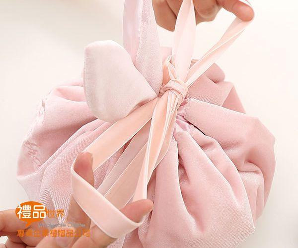 兔子造型絨絲束口收納袋