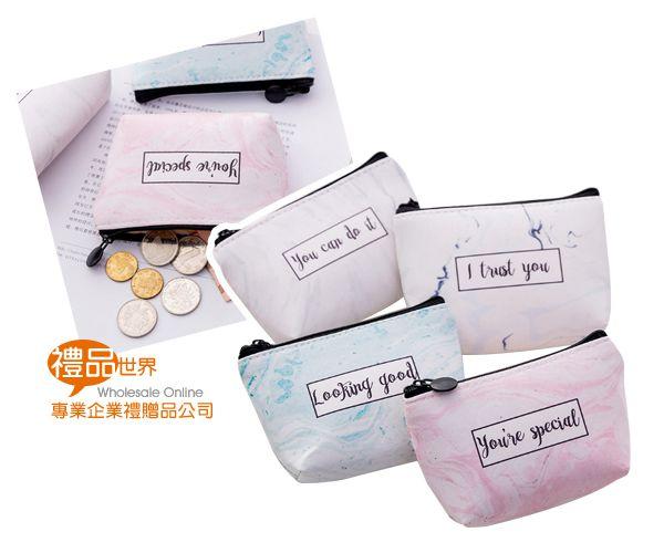大理石紋零錢包