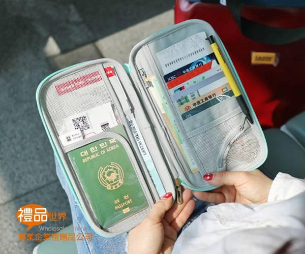 多功能硬殼護照包