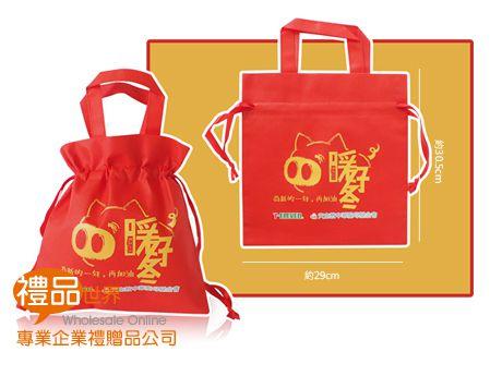 客製化不織布束口提袋29x30.5cm
