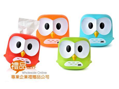 貓頭鷹造型衛生紙盒