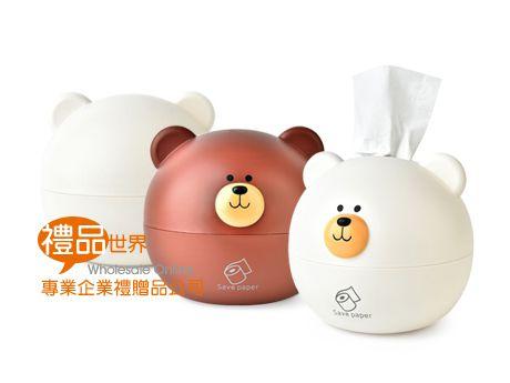 熊熊造型衛生紙盒