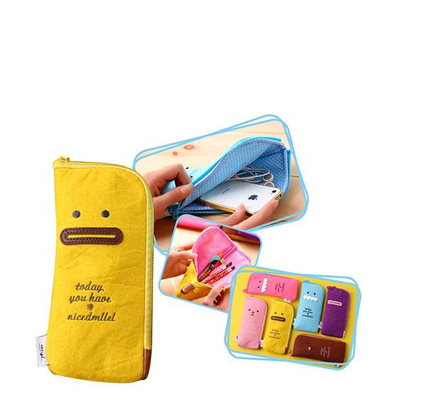 粉彩表情筆袋