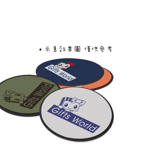 客製化布面橡膠滑鼠墊(圓)