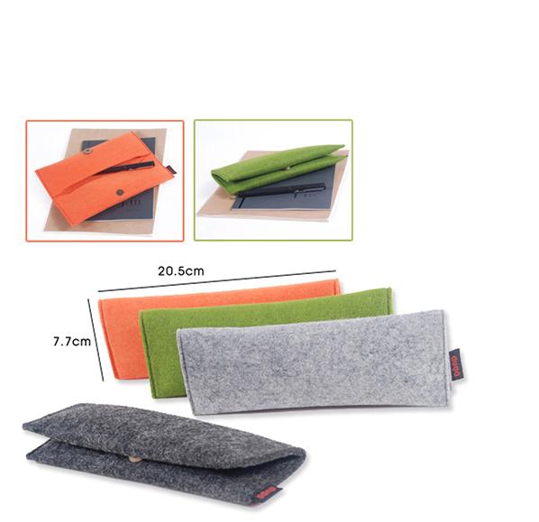 客製化毛氈布折疊筆袋
