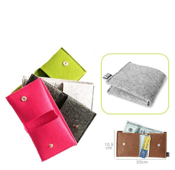客製化毛氈布折疊錢包