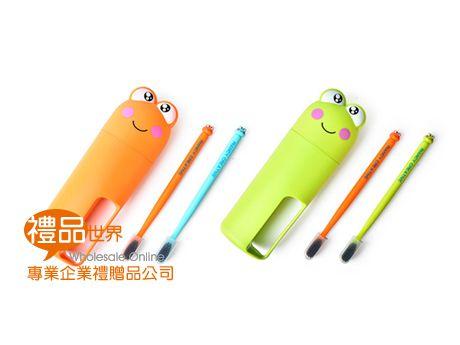 青蛙造型旅用牙刷組