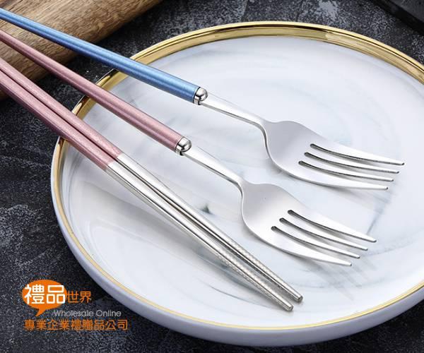 環保304不鏽鋼餐具3件組