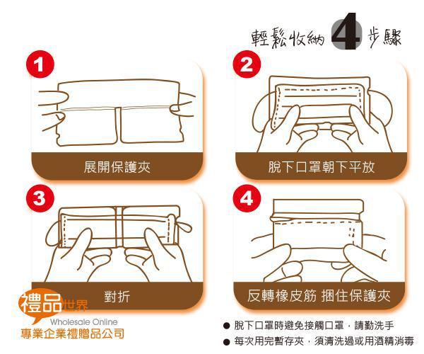 客製化便利口罩夾(彩色印刷)