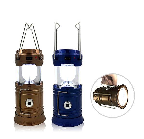 復古太陽能露營燈手電筒