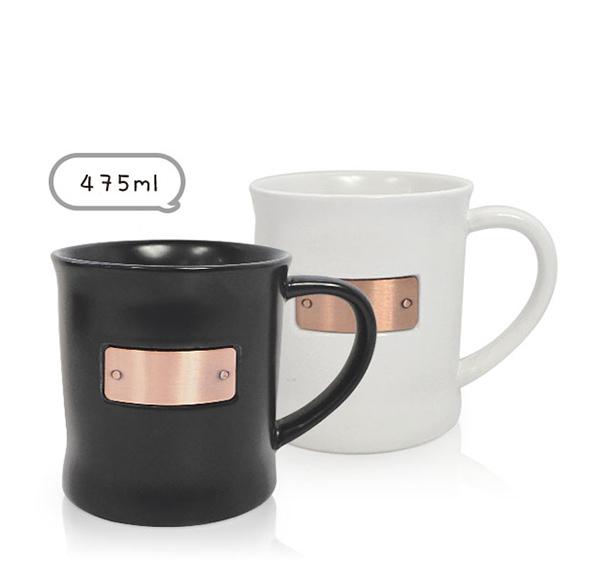 廣口銅片馬克杯475ml