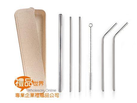 環保不鏽鋼吸管6入組(小麥盒)