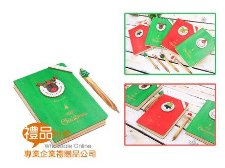 聖誕木質筆記本(32K)