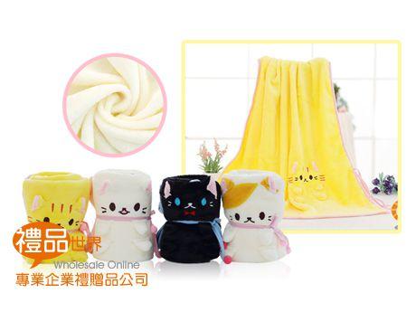 可愛貓咪捲捲毯80x100cm