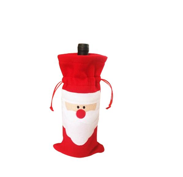 聖誕老人酒瓶套(束口)