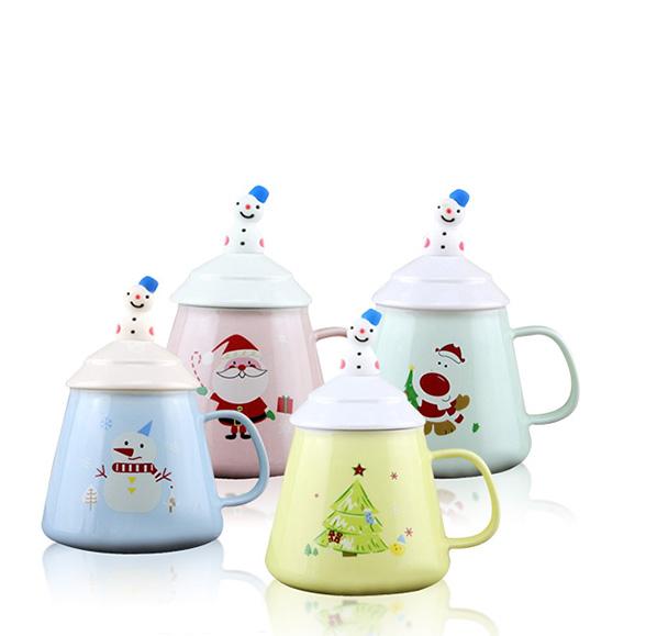 聖誕雪人陶瓷杯3件組