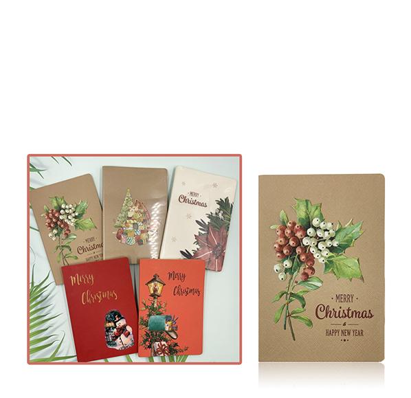聖誕繪畫風格筆記本(32K)