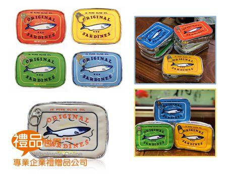 魚罐頭造型化妝包(長型)
