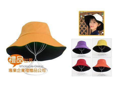 雙面素色漁夫帽