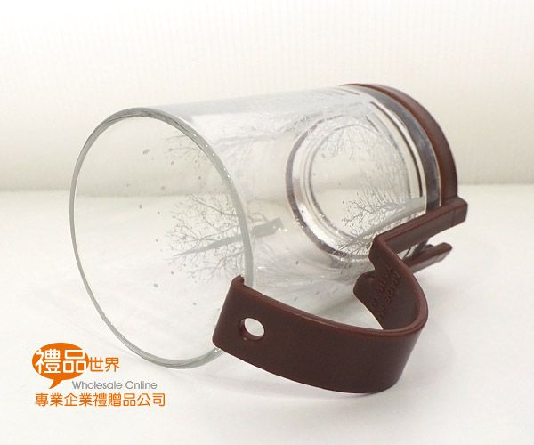 雪花時尚玻璃杯(附調棒)