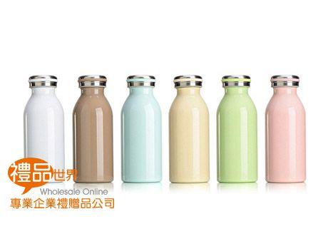炫彩牛奶瓶保溫杯350ml
