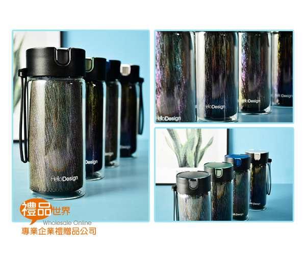 炫彩杯套玻璃瓶380ml