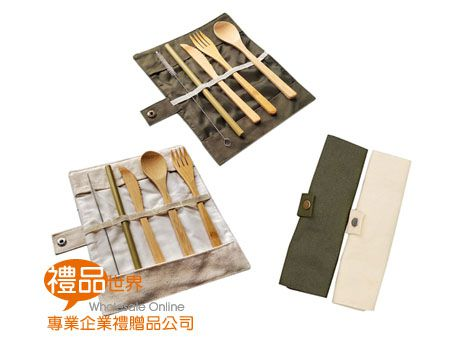環保竹餐具五件組