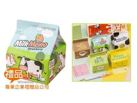 牛奶盒造型便條紙