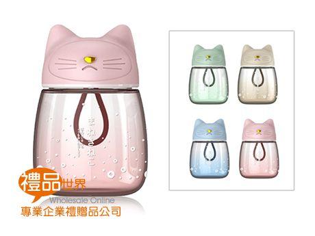 可愛貓咪玻璃瓶300ml