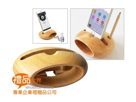 木質圓形擴音支架