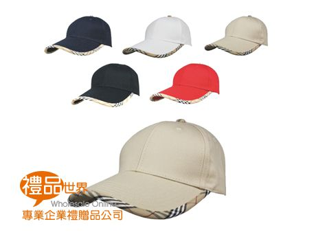 格紋休閒帽