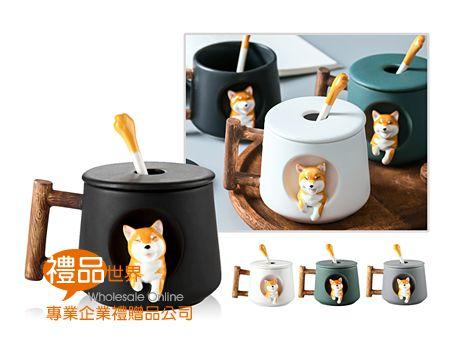 柴犬造型陶瓷杯420ml