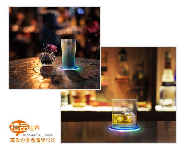 LED發光透明杯墊