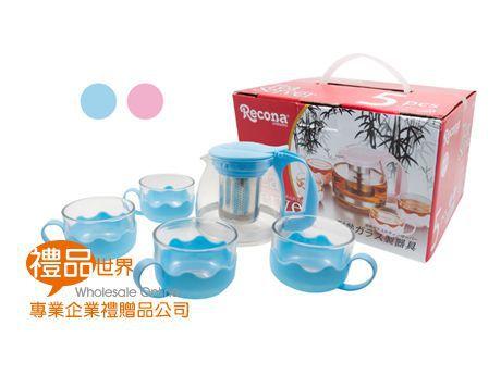 日式玻璃花茶壺組