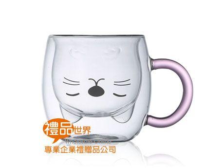 貓咪提把玻璃杯300ml