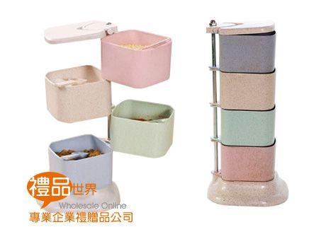 環保小麥直立式調味盒