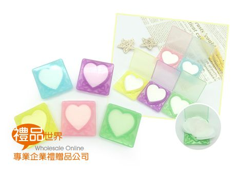 愛心造型紙香皂